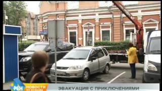 Эвакуатор повредил машину в Иркутске