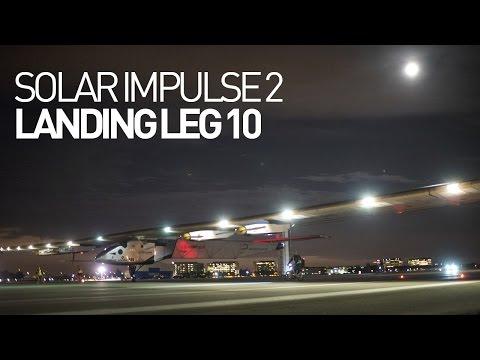 LEG 10 LIVE: Solar Impulse Airplane - Landing in Phoenix