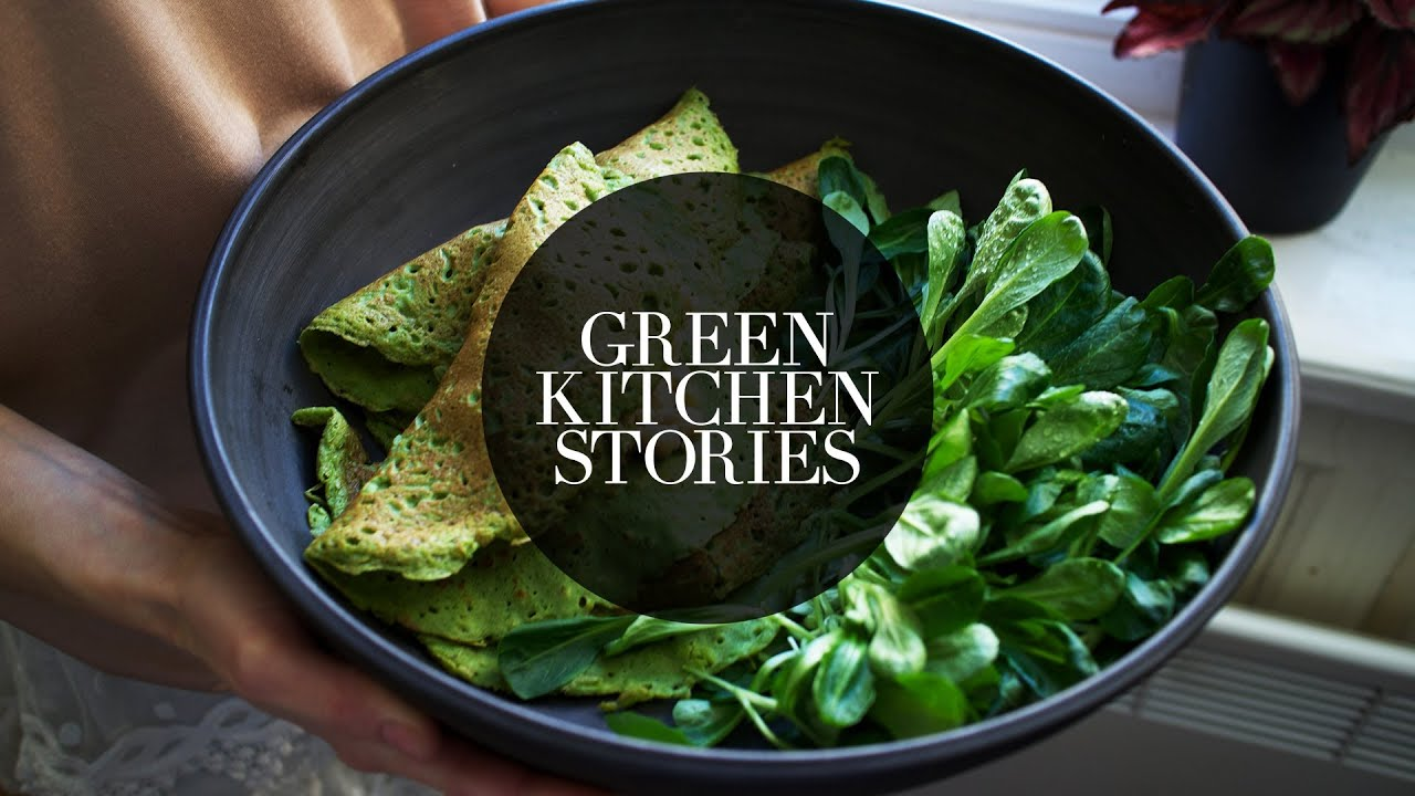 spinach crepes green kitchen stories youtube. Black Bedroom Furniture Sets. Home Design Ideas
