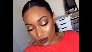 Fall make up/Autumn Makeup tutorial (limecrime salem)