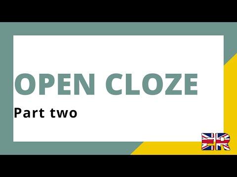 Open cloze part II: Cambridge First exam
