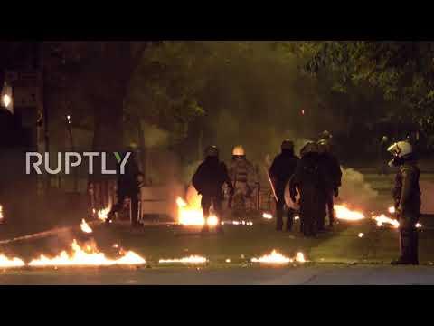 Greece: Molotovs scorch Athens on Polytechnic uprising anniversary