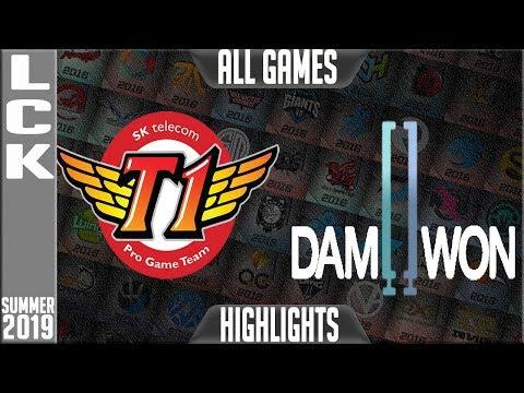 SKT vs DWG Highlights ALL GAMES   LCK Summer 2019 Week 10 Day 1   SK Telecom T1 vs Damwon Gaming