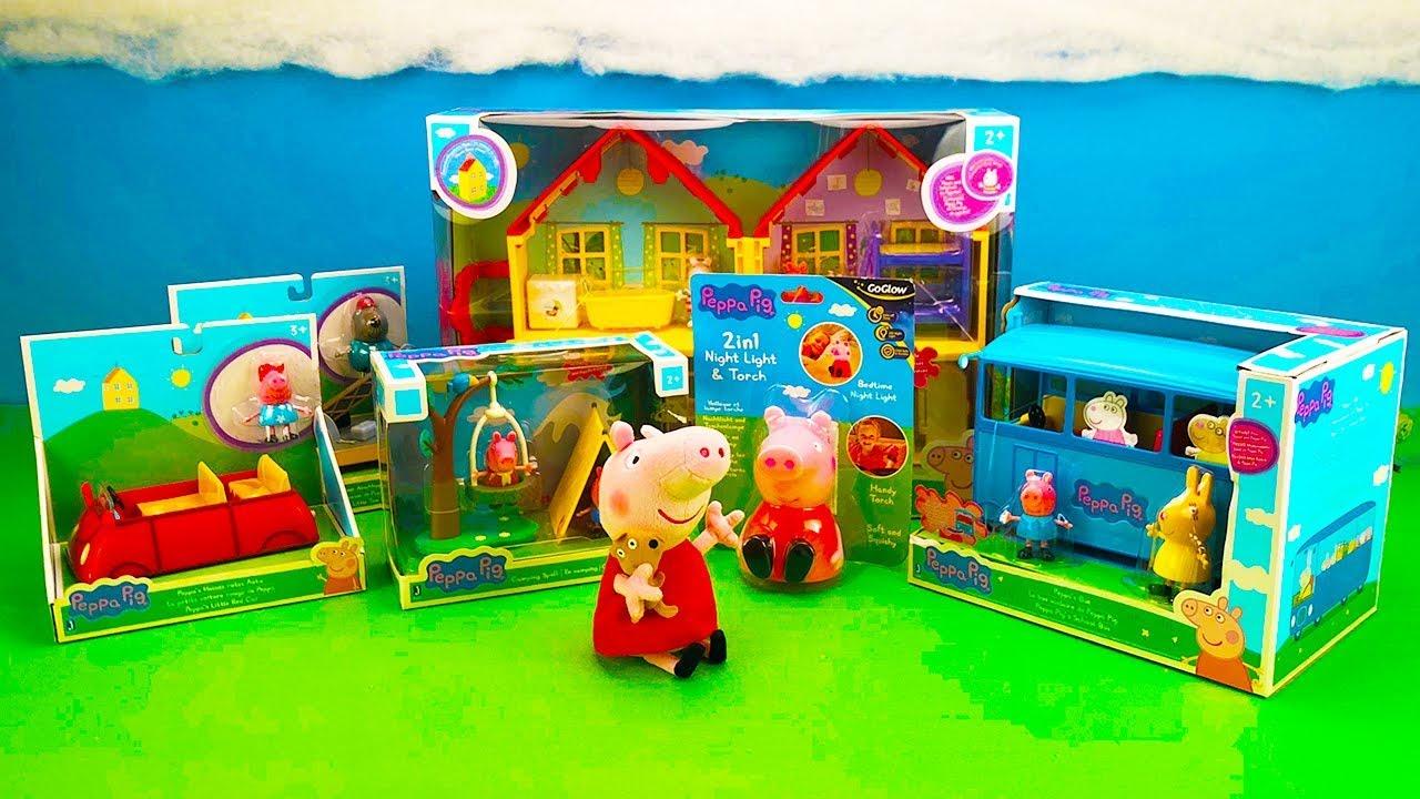 Peppa Pig Unboxing School Bus Peppa Pig Car George Peppa Night Light For Kids