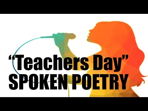 """Spoken Poetry for all Teachers (Teachers day: """"Perpetuo"""") Performed by Alex Martinez"""