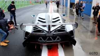 [EXCLUSIVE] Lamborghini Veneno for the first time on track. Start U...