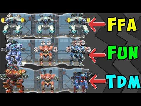 3 Different Mk2 War Robots Hangars Vs All Game Modes - WR