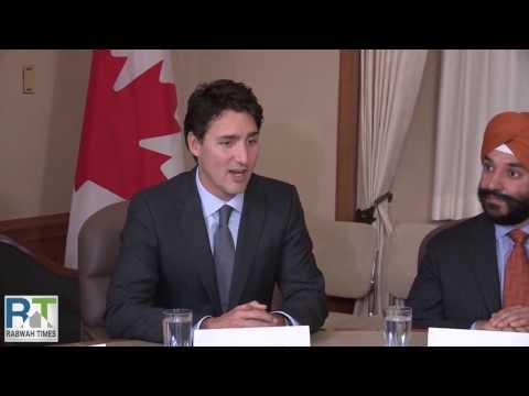 Hazrat Mirza Masroor Ahmad - Khalifa Of Islam Ahmadiyya - Meeting With Canadian PM - By Roothmens