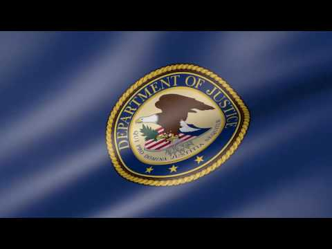 United States Department of Justice Animated Flag