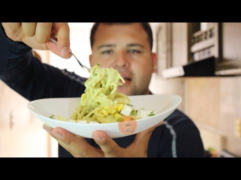Espagueti En Crema De Poblano