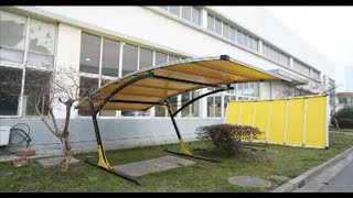 Carport, Patio Awning, Boat Parking, Backyard Shade 19.7 ft x 10 ft Arched Canopy Install Video