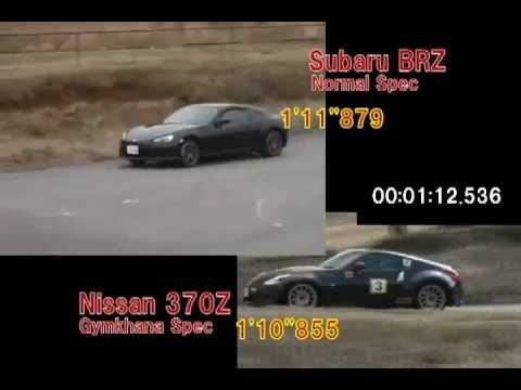 Gymkhana Battle Subaru BRZ vs Nissan 370Z  YouTube