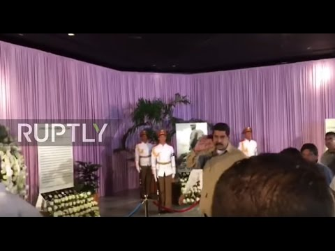 Cuba: Maduro attends Revolution Square memorial to pay respects to Castro
