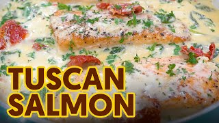 Creamy at Mabawang na Tuscan Salmon | Easy and Healthy Salmon Recipe