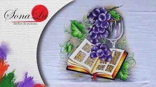 Bíblia com Uvas e Taça em Tecido (Parte 1)