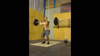 wod 10 powersnatch 40 kg 15 thrusters 40kg and 32kg 10 kb swing