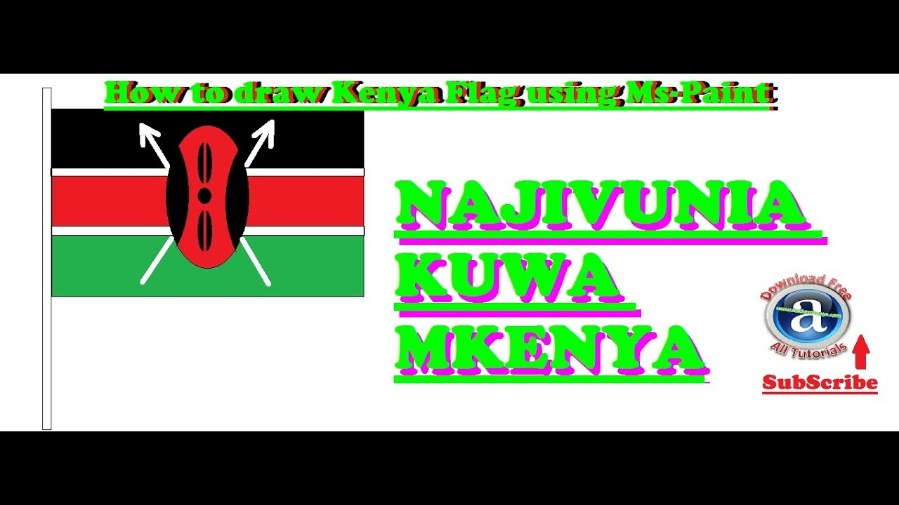 How To Draw Flag Of Kenya Youtube