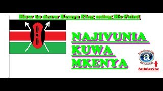how to draw flag of kenya
