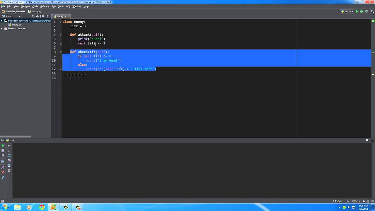 Python Programming Tutorial - 29 - Classes and Objects