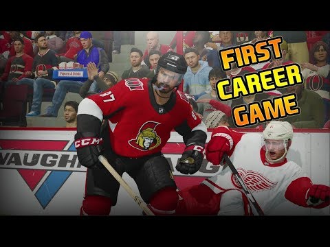 First Career Game - NHL 18 - New Ottawa Senators Be A Pro Ep. 4