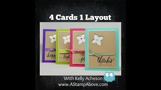 4 Cards 1 Layout