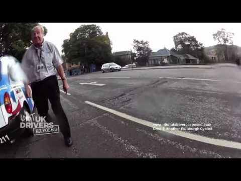 Edinburgh Cyclist & Taxi Road Rage, UK Taxi Driver Assaults Cyclist. Idiot Driver Charged. Dash cam