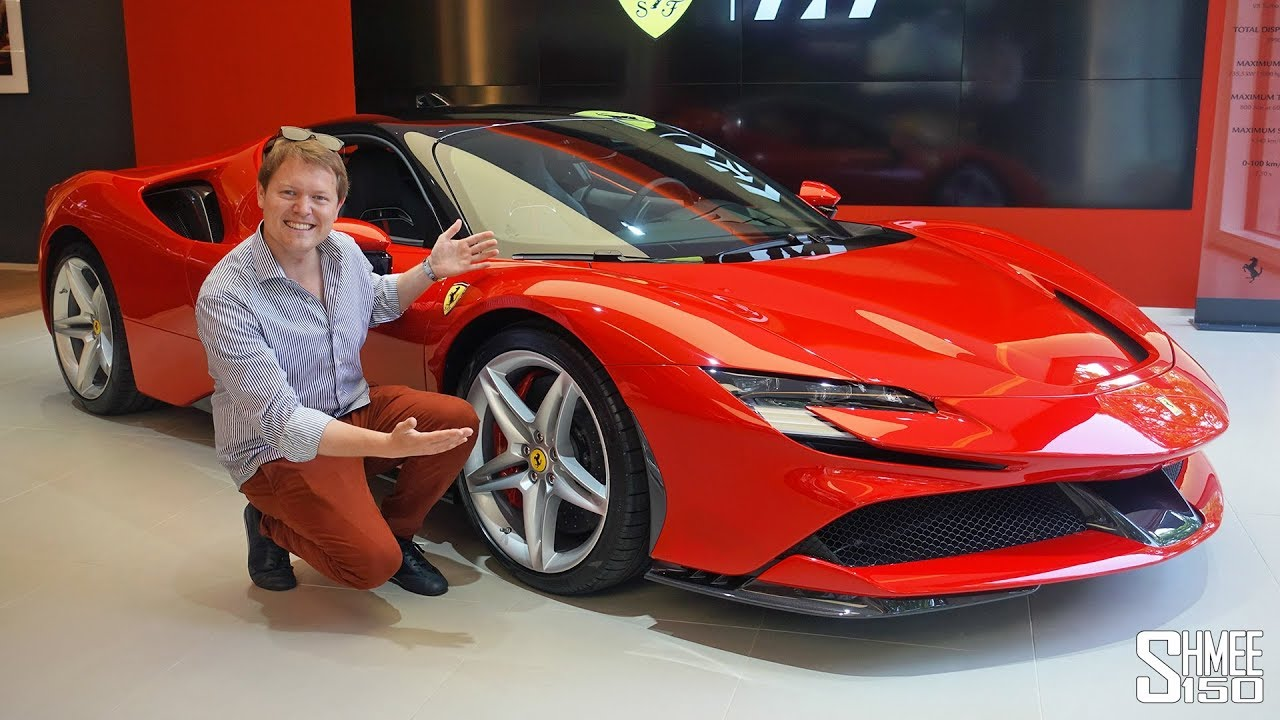 My First Look At The New Ferrari Sf90 Stradale Youtube