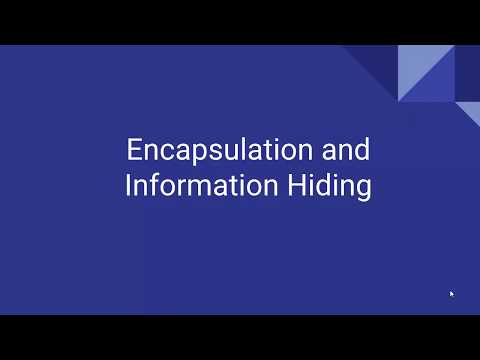 Encapsulation & Information Hiding (II) - Keep it secret, keep it safe!