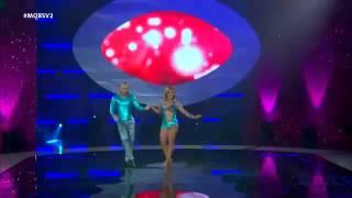 Pleytez & Johanna bailan cumbia Mas que Baile El Salvador