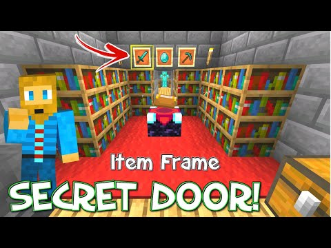 Item Frame Secret Door Tutorial Minecraft Bedrock [Windows 10, XBOX, Console And PE]