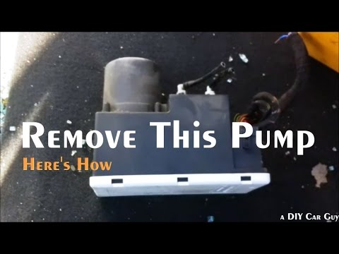Audi A4 Door Lock Pump Location And Removal Youtube