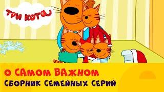 Три кота | Сборник серий про родных и близких котиков 💞 | СТС Kids
