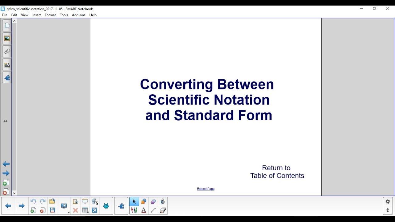 Scientific notation converting between scientific notation and scientific notation converting between scientific notation and standard form part 1 falaconquin