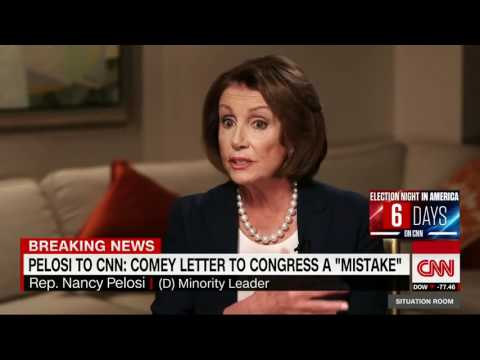 "Nancy Pelosi on Comey : "" MAYBE HE'S NOT ON THE RIGHT JOB"""