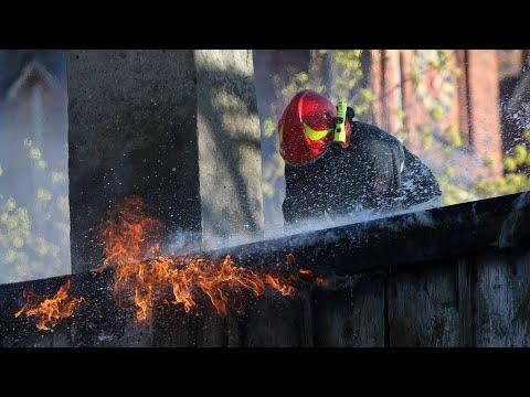 Pożar pustostanu przy ul. Żeromskiego