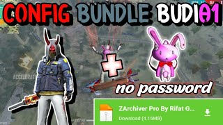 CONFIG BUNDLE BUDI01 GAMING + TAS RABBIT PINK!! WORKK 100% NO PASSWORD || GARENA FREE FIRE