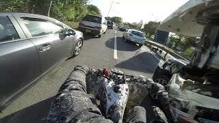 68 - Motorway Run Yamaha Raptor 700 + Yfz450R Road Legal Quad Bike England GoPro