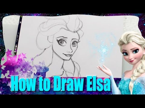 How to Draw ELSA from Disney's Frozen - @DramaticParrot