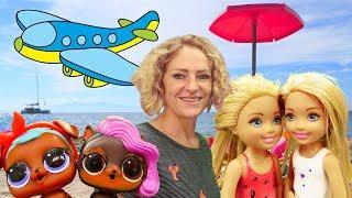 Spielzeugvideo für Kinder - Barbie macht Urlaub am Meer