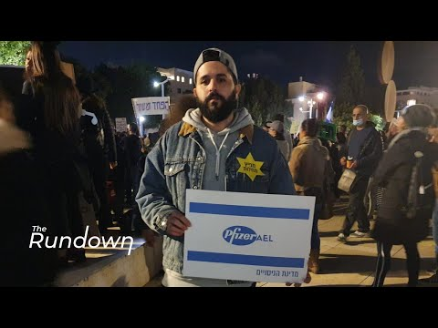 Tel Aviv Residents Protest 'Green Passport' Program