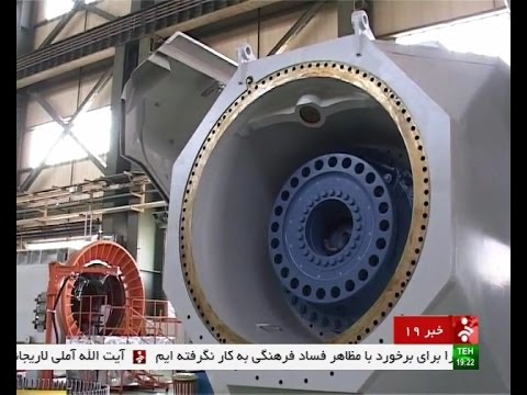 Iran MAPNA made 2.5 MegaWatts Wind turbine production توليد توربين بادي ساخت گروه مپنا ايران