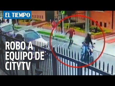 En cámara quedó registrado robo a equipo de Citytv |ELTIEMPO