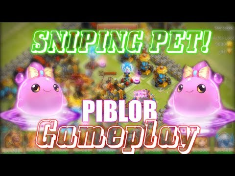 NEW SNIPING PET? NEW PET PIBLOB GAMEPLAY - Castle Clash