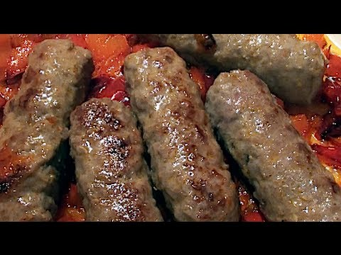 Cevapi with Bell Pepper