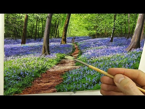 84 How To Paint Bluebells Oil Painting Tutorial Youtube
