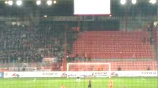 Union Berlin vs. Eintracht Frankfurt 26.3.2012 - Frankfurt supporters take over the away section