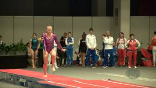 KOROBEINIKOVA Anna (RUS) - 2015 Trampoline Worlds - Qualification TU Routine 2