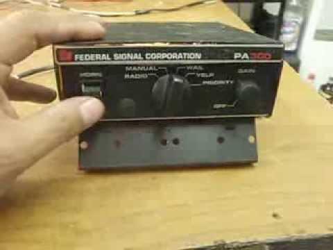 sirena federal signal pa 300 con priorityfrancisco dominguez