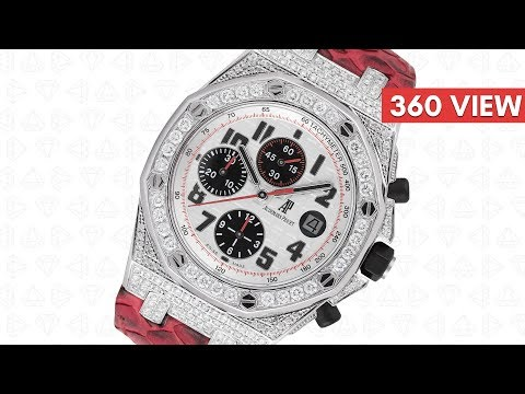 Audemars Piguet Royal Oak Offshore 42mm Diamond Set with Red Python Strap - Time4Diamonds