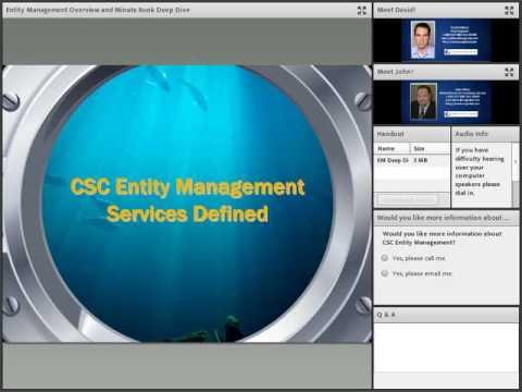 Entity Management Overview